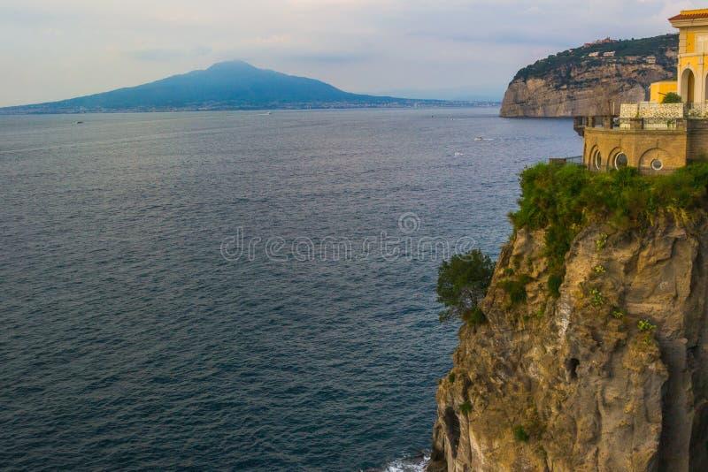 Vesuvio da Sorrento fotografia stock