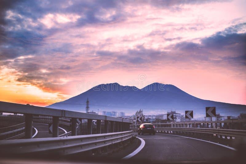 Vesuvio sullo sfondo, Napoli obraz stock