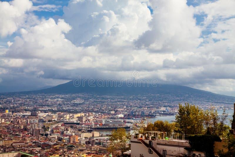 Vesuvius в Неаполь стоковые фото