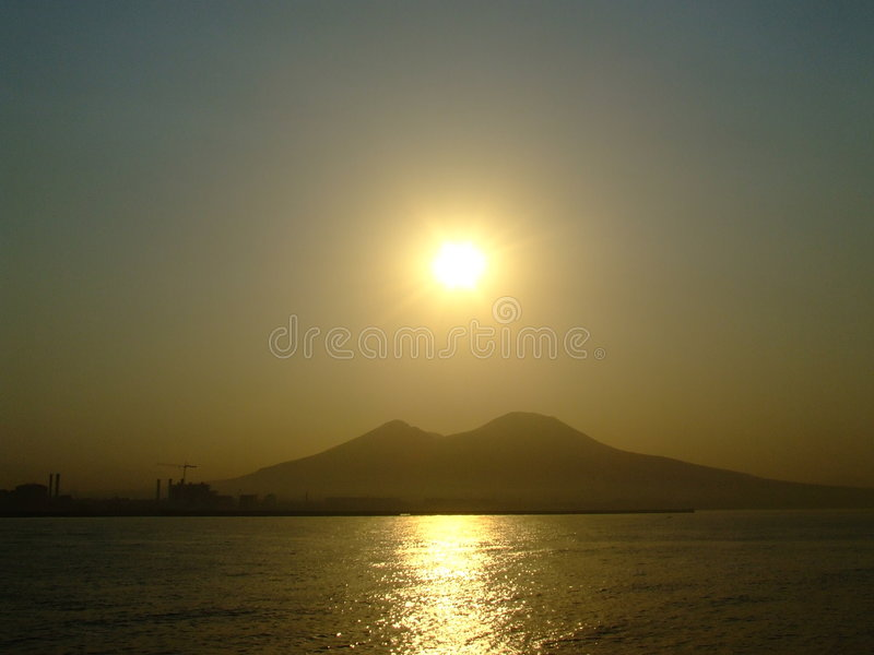 Vesuvius Shape royalty free stock images