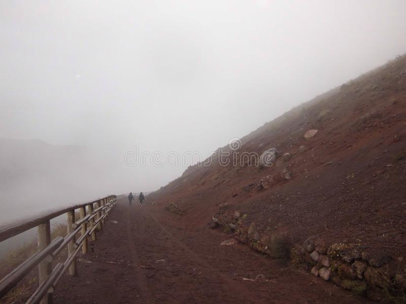 Vesuvius trekking стоковая фотография