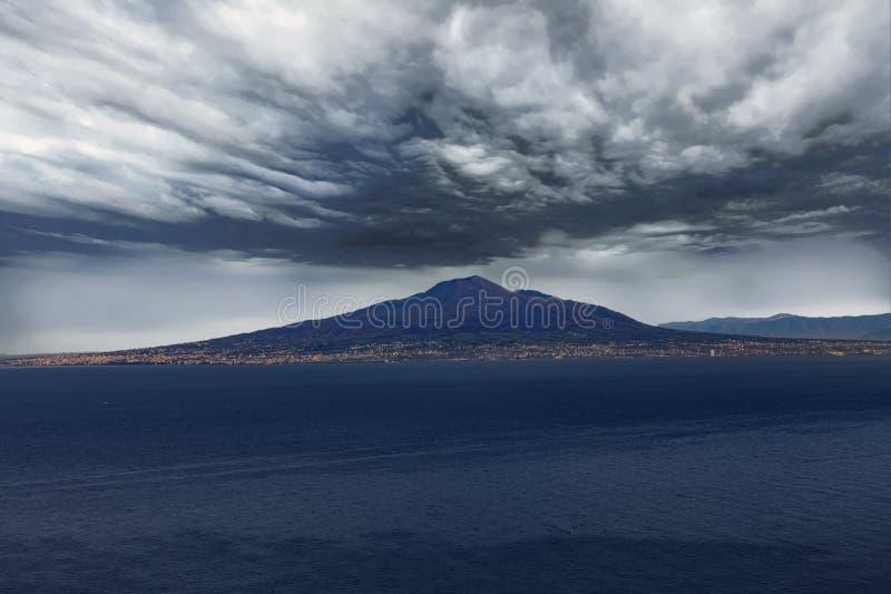 Vesuvius Under Ominous Clouds. Mount Vesuvius Under Ominous Clouds stock image