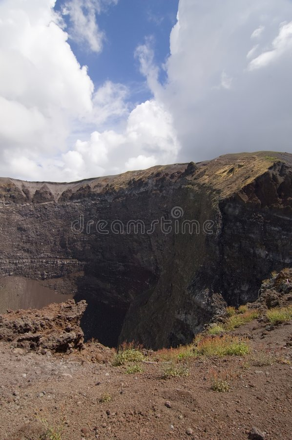 Vesuvius volcano crater royalty free stock photography