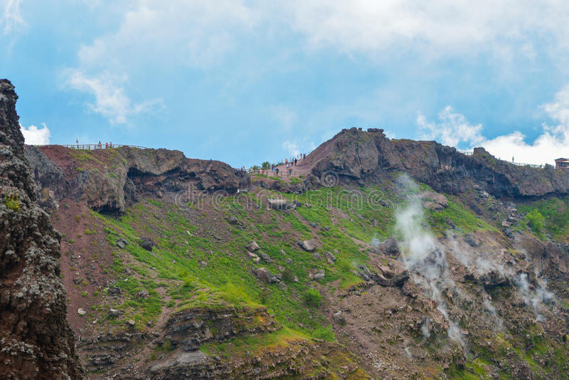 Vesuvius volcano crater royalty free stock photo
