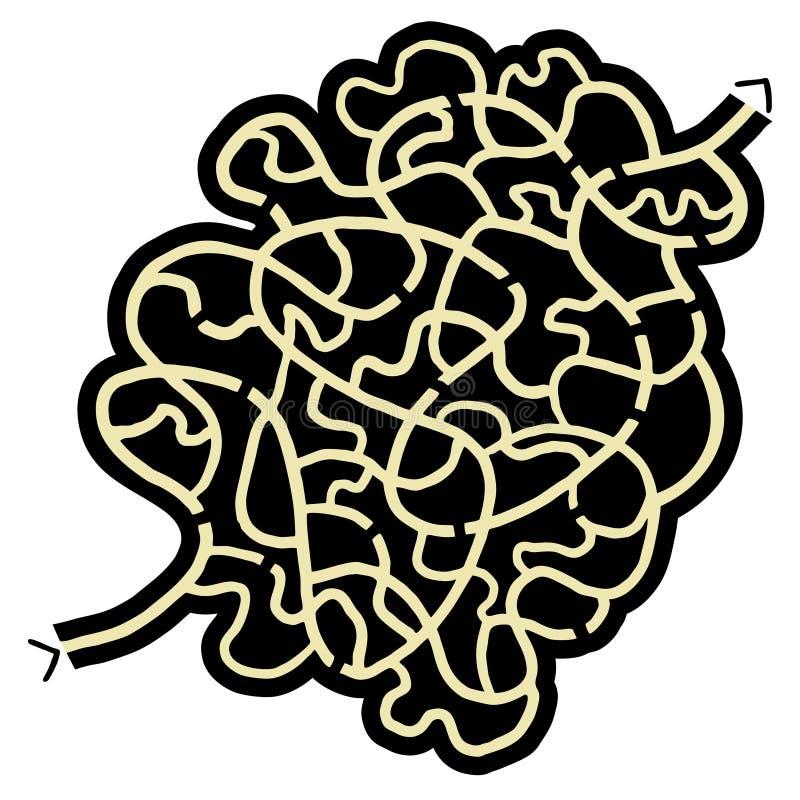 Vet labyrint vector illustratie