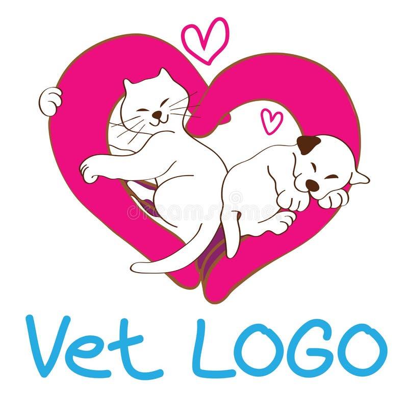 Vet logo design royalty free illustration