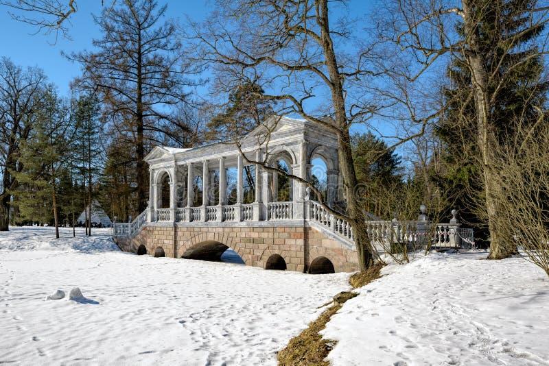 Vetee el puente (de Palladian) o la galería de mármol siberiana por el architec imagen de archivo libre de regalías