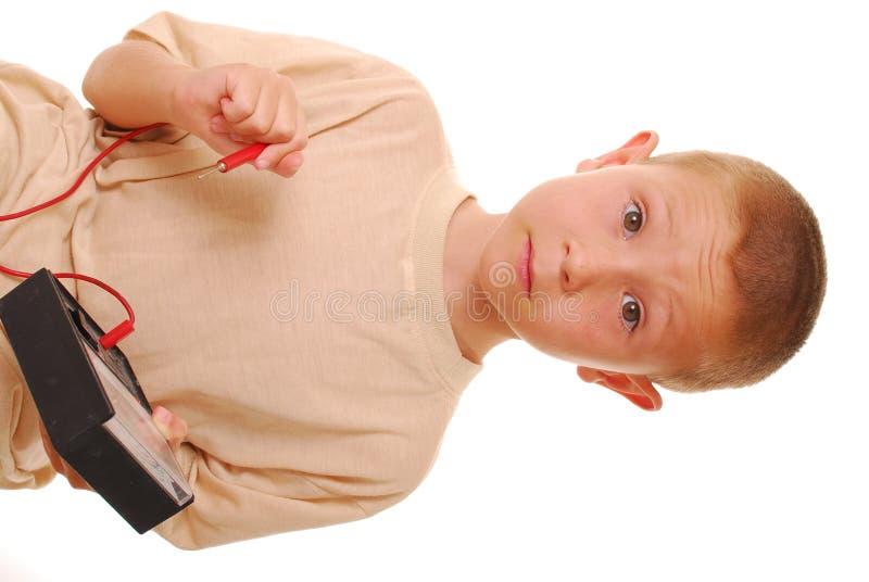 vetenskap för 3 pojke fotografering för bildbyråer