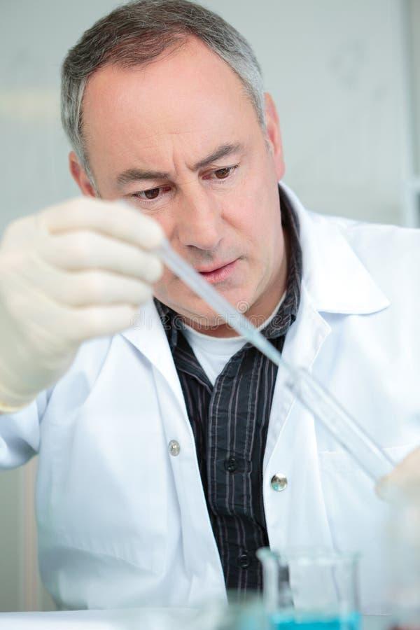 vetenskap för experimentlaboratoriumforskning arkivfoton