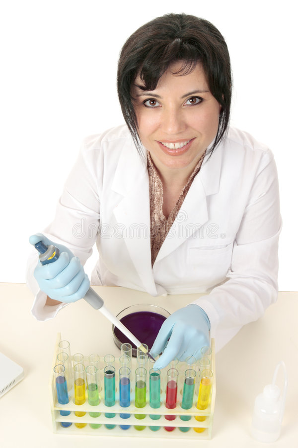 vetenskap för kemimicrobiologyforskning royaltyfria bilder
