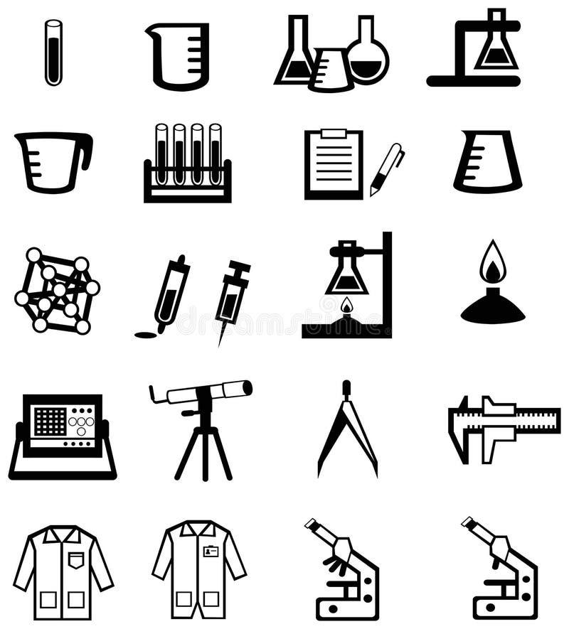 Vetenskap, kemi och iscensätta för kontur för stock illustrationer