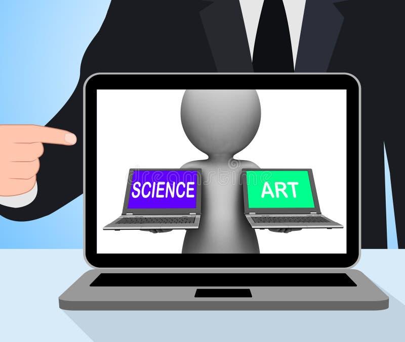 Vetenskap konstnärliga Art Laptops Displays Scientific Or stock illustrationer