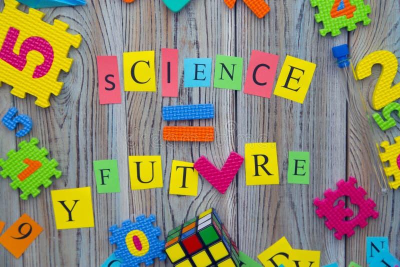 Vetenskap likställer den framtida inskriften arkivbild