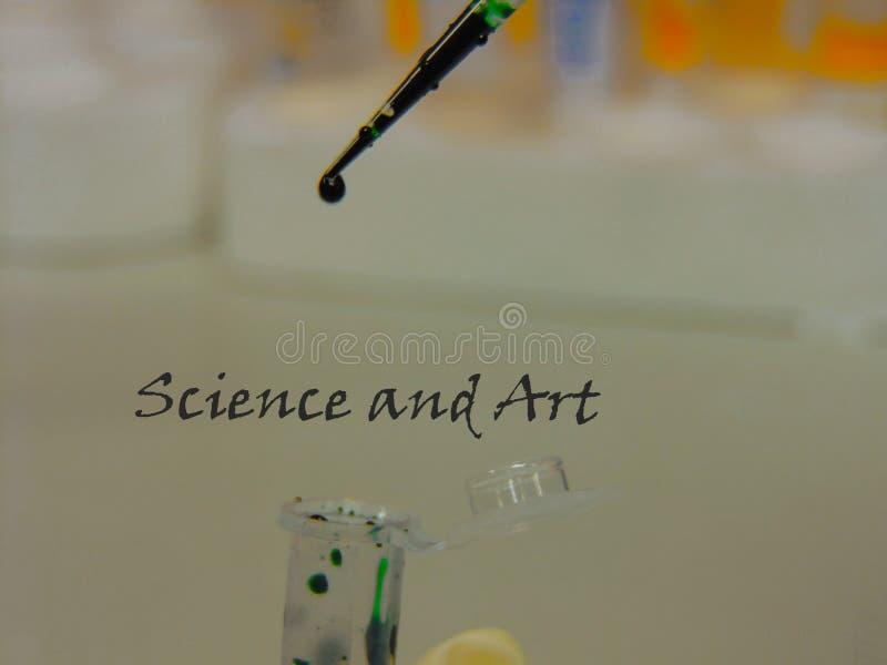 Vetenskap och konst royaltyfria bilder