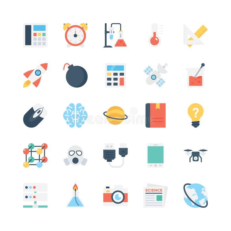 Vetenskap och teknikvektorsymboler 3 vektor illustrationer