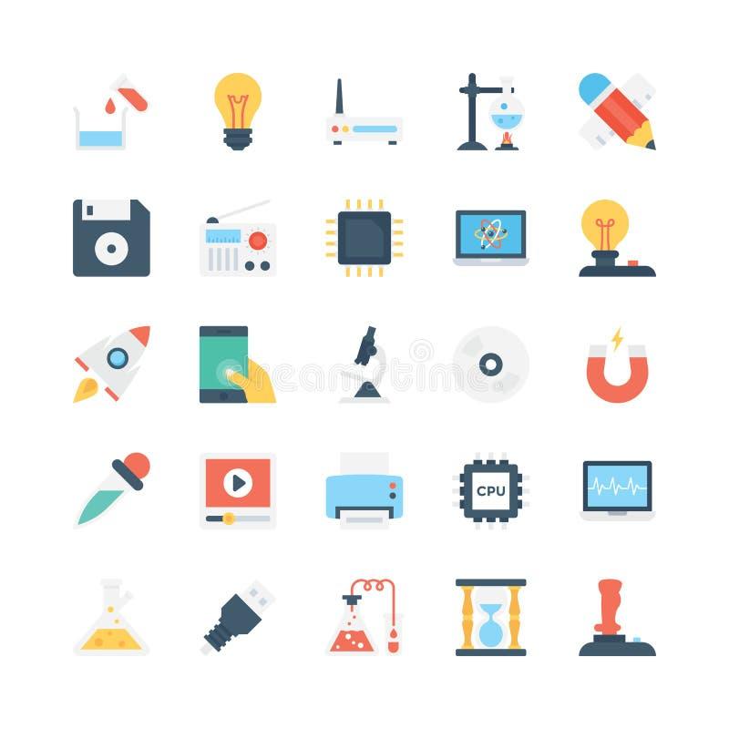 Vetenskap och teknikvektorsymboler 4 vektor illustrationer