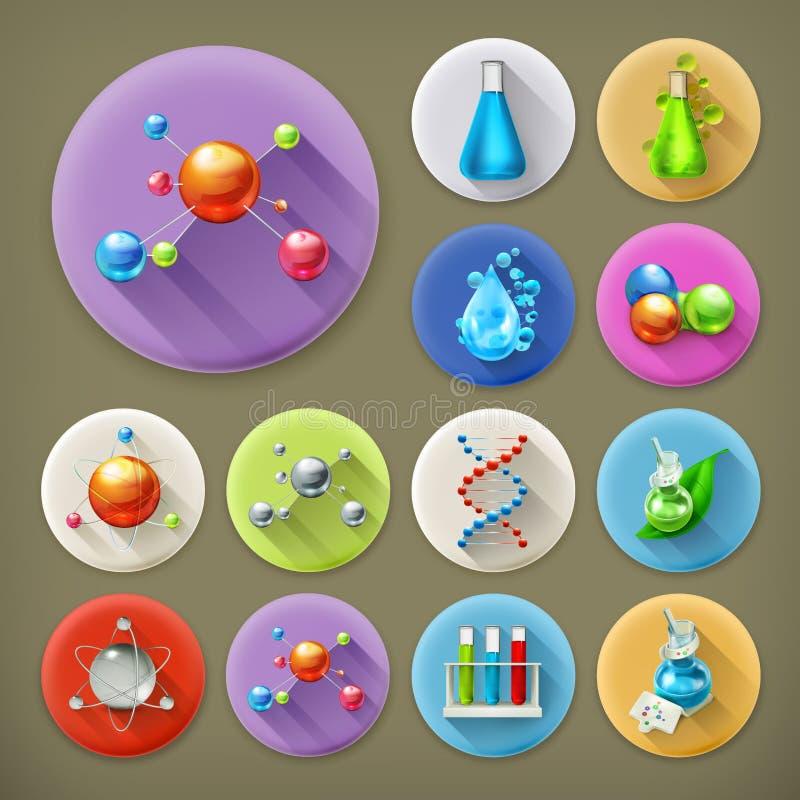 Vetenskap, rör och molekylar stock illustrationer