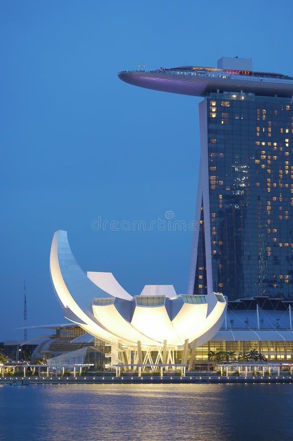 vetenskap singapore för konstskymningmuseum s royaltyfria bilder