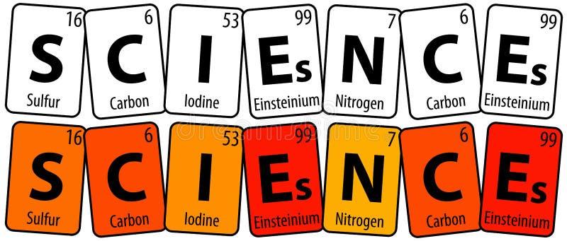 vetenskaper stock illustrationer