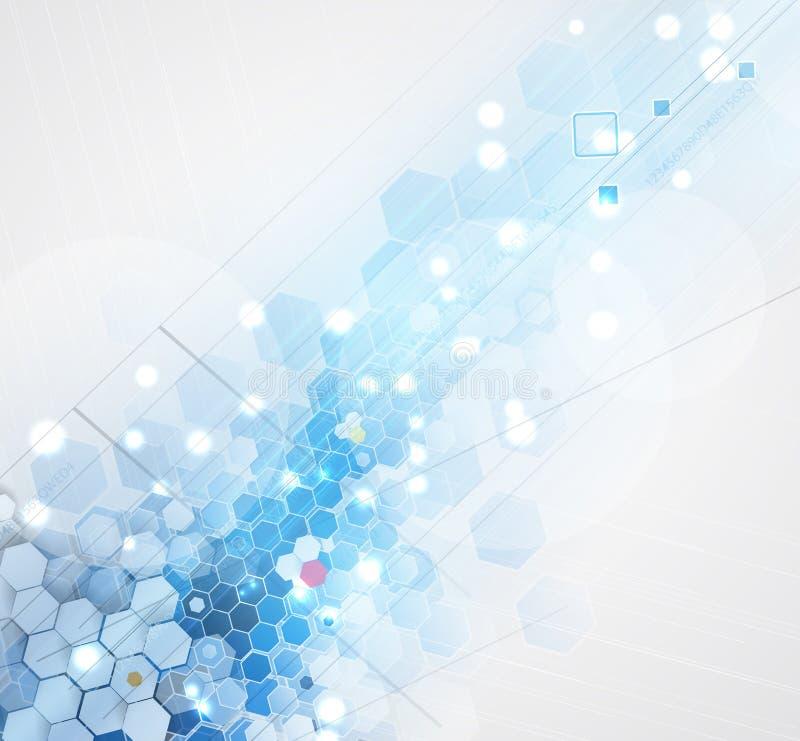 Vetenskaplig framtida teknologi För affärspresentation Reklamblad, royaltyfri illustrationer
