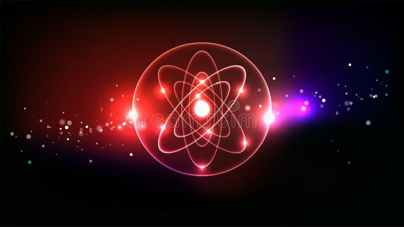 Vetenskaplig logovektorbakgrund royaltyfri illustrationer
