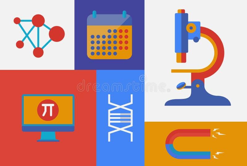 Vetenskaplig retro illustration stock illustrationer