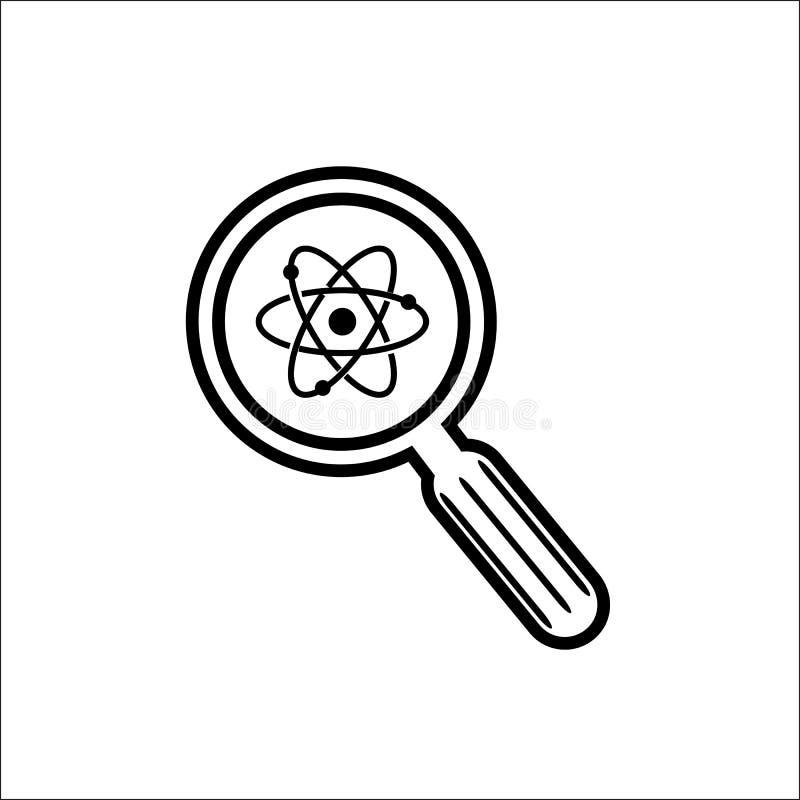 Vetenskaplig uppt?cktvektorsymbol stock illustrationer