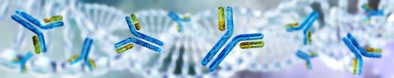 Vetenskapligt begrepp för genteknik kromosom vektor illustrationer