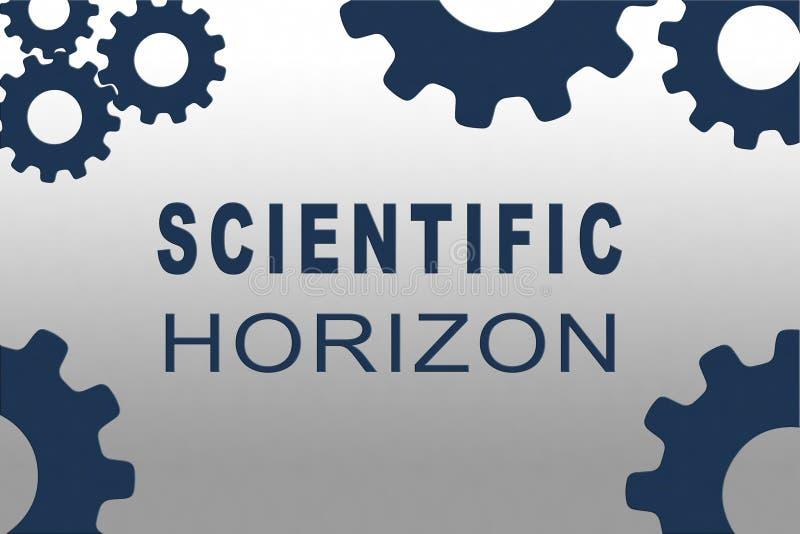 VETENSKAPLIGT HORIZON-koncept vektor illustrationer