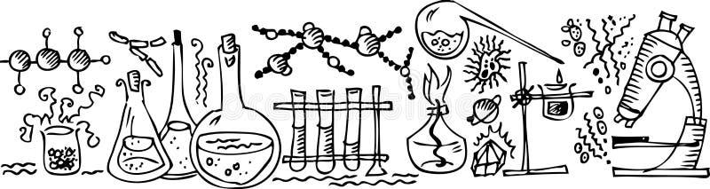 vetenskapligt laboratorium iii stock illustrationer