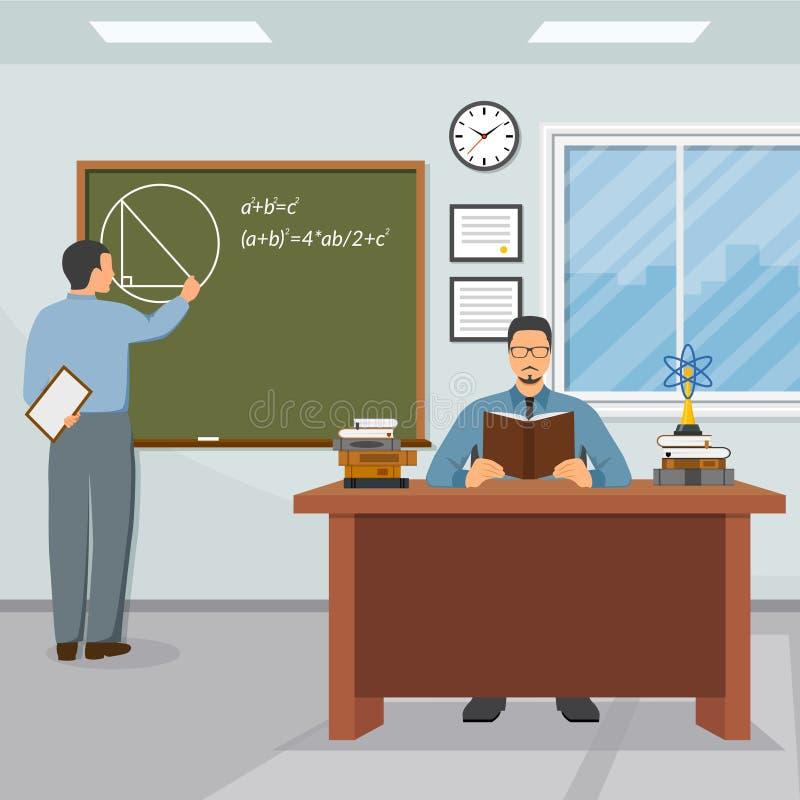 Vetenskaps- och utbildningsillustration vektor illustrationer