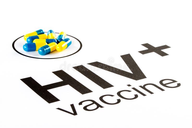 Vetenskapsforskning vid den muntliga vaccinera kapseln för HIV, hjälpmedel royaltyfri fotografi