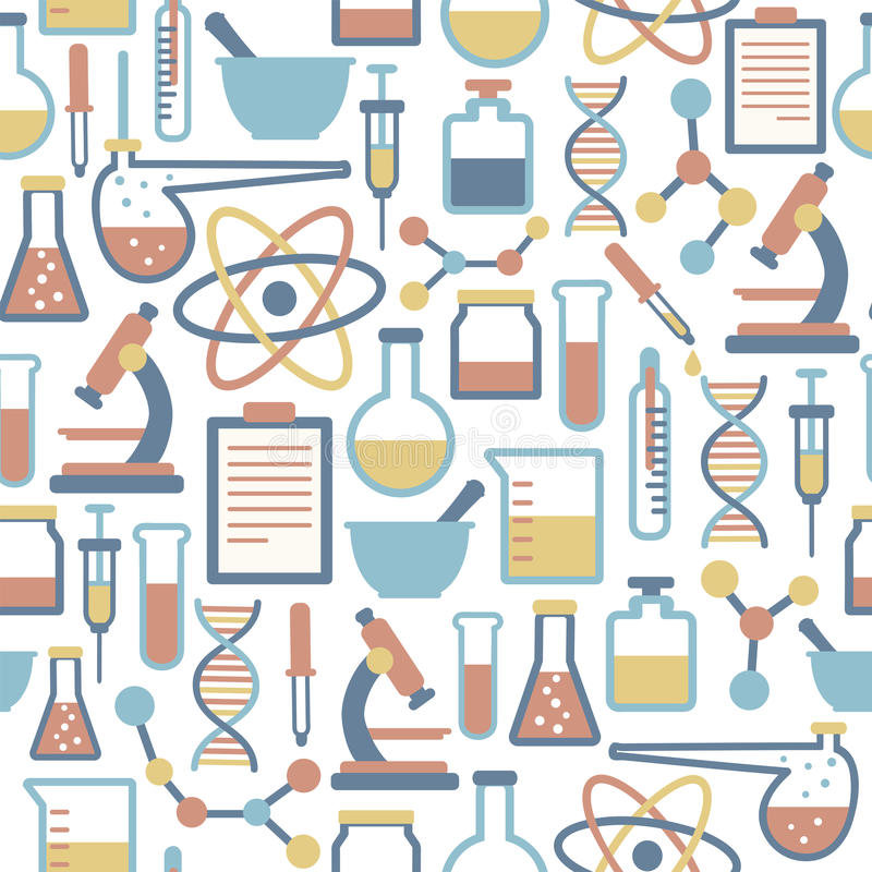 Vetenskapsmodell vektor illustrationer