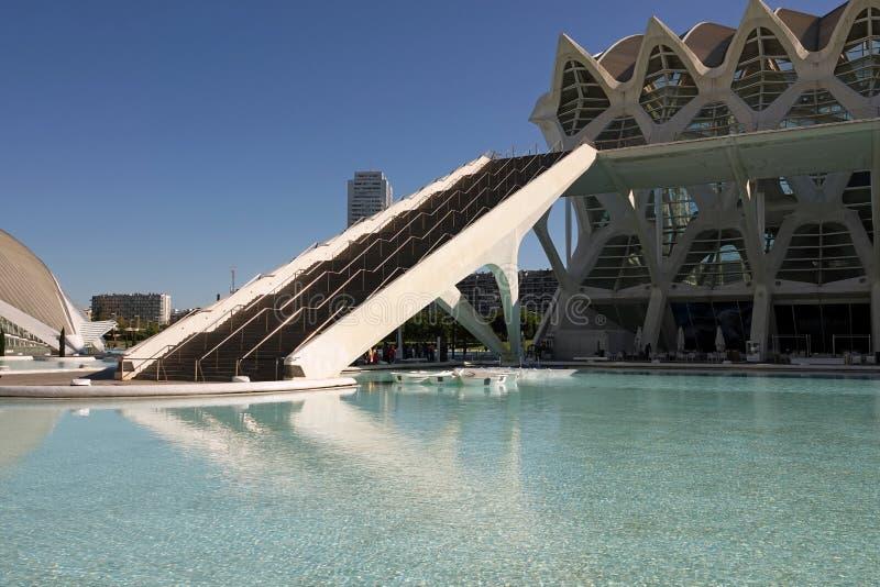 Vetenskapsmuseum i stad av konster och vetenskaper i Valencia, Spanien arkivfoto