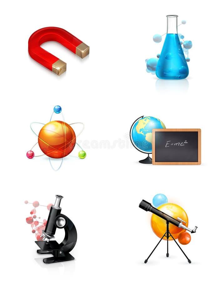 vetenskapsset stock illustrationer