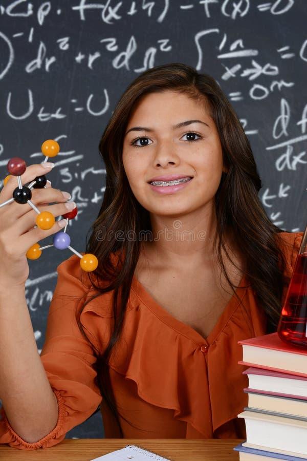 Vetenskapsstudent fotografering för bildbyråer