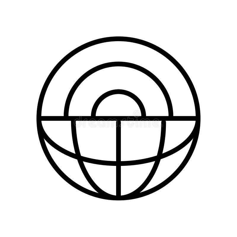 Vetenskapssymbol som isoleras på vit bakgrund stock illustrationer