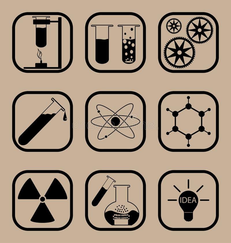 Vetenskapssymbolsuppsättning arkivfoto