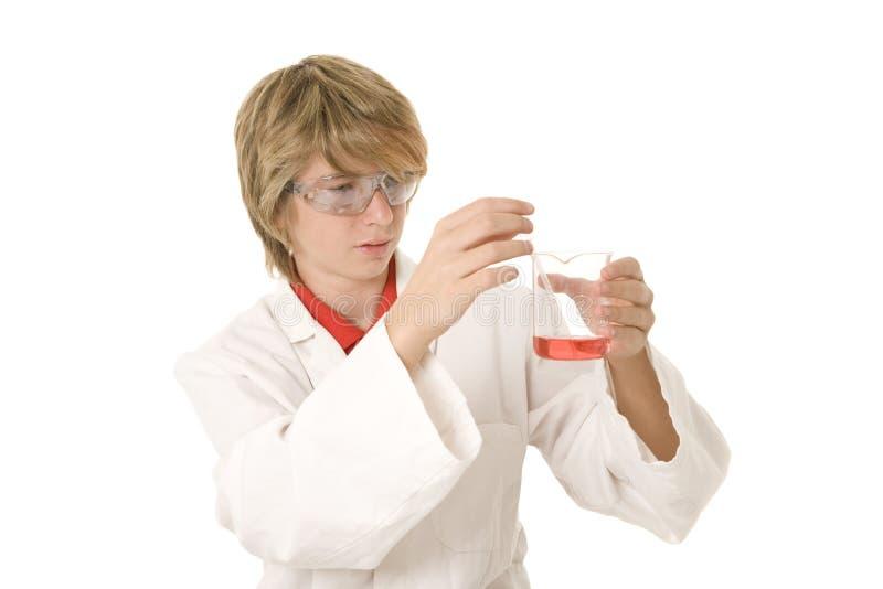 Vetenskapsutbildning på skolan royaltyfria foton