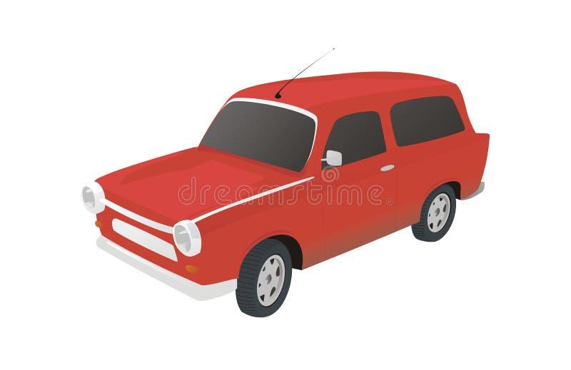 Download Veteran car. stock illustration. Image of bumper, gray - 12454189