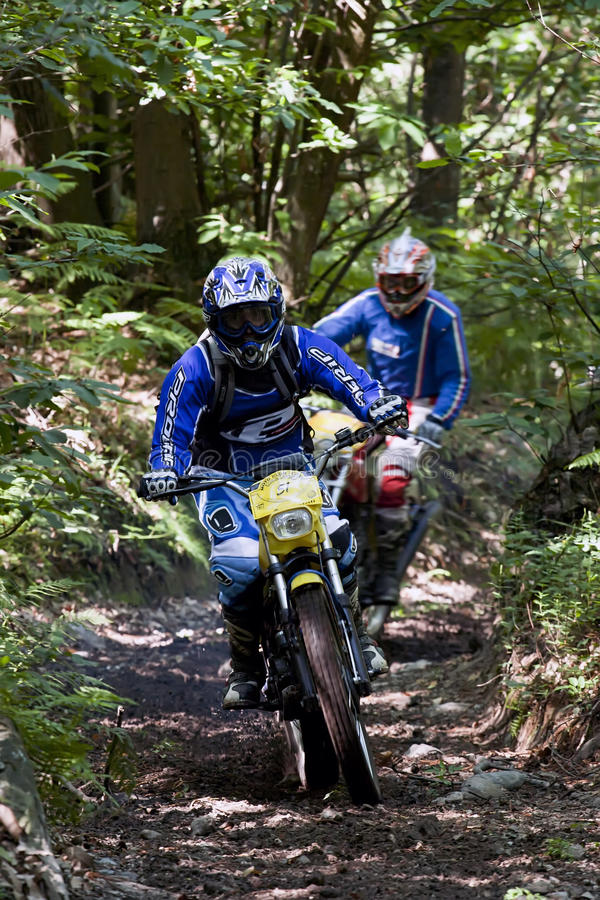 Veteran enduro riders royalty free stock image