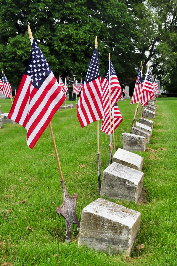 Download Veteran Grave Sites stock image. Image of flag, fallen - 24886871