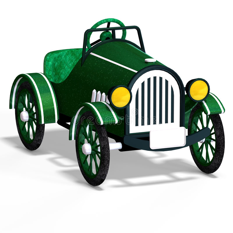 Download Veteran Oldtimer With Clipping Path Over White Stock Illustration - Image: 6947188
