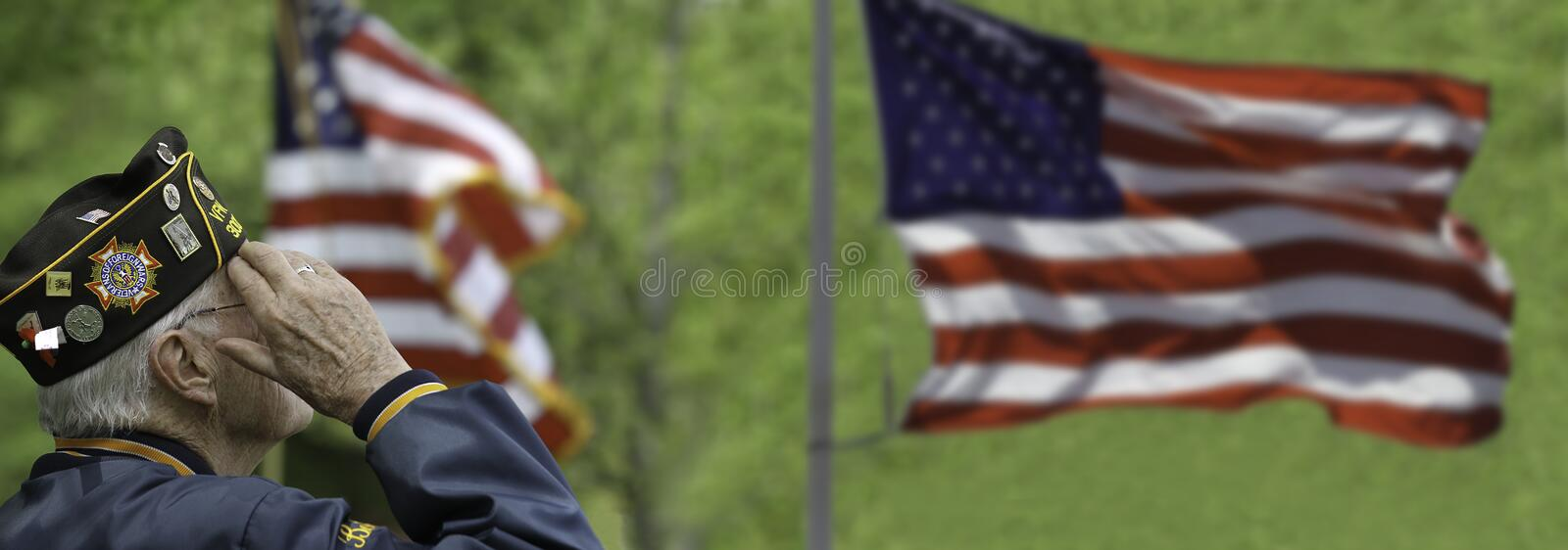 Veteran`s Saluting. At a ceremony royalty free stock photos
