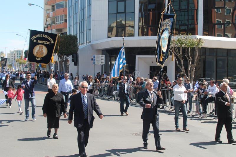 Veteran som marscherar på, ståtar royaltyfria foton