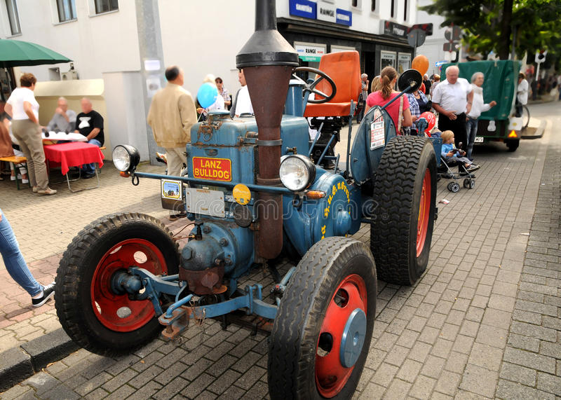 Veteran tractor Lanz Bulldog. The Lanz Bulldog was a tractor manufactured by Heinrich Lanz AG in Mannheim, Baden-Württemberg, Germany. - the reunion tour royalty free stock images