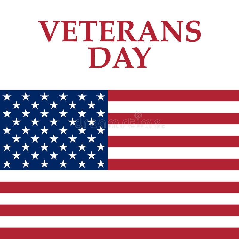 Veterandag i Amerikas förenta stater vektor illustrationer