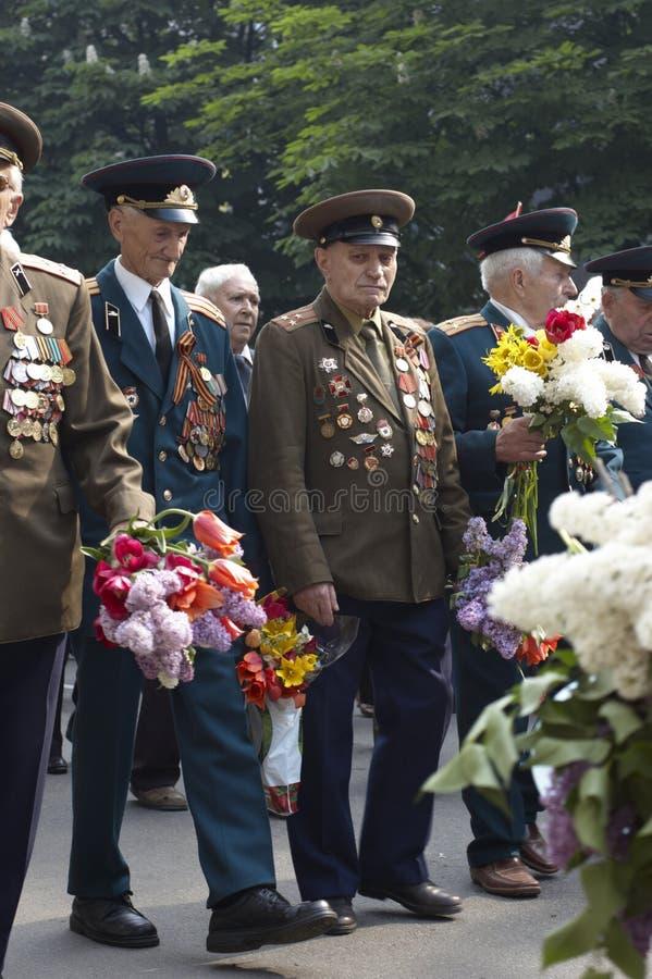 Veterane des zweiten Weltkriegs stockfoto