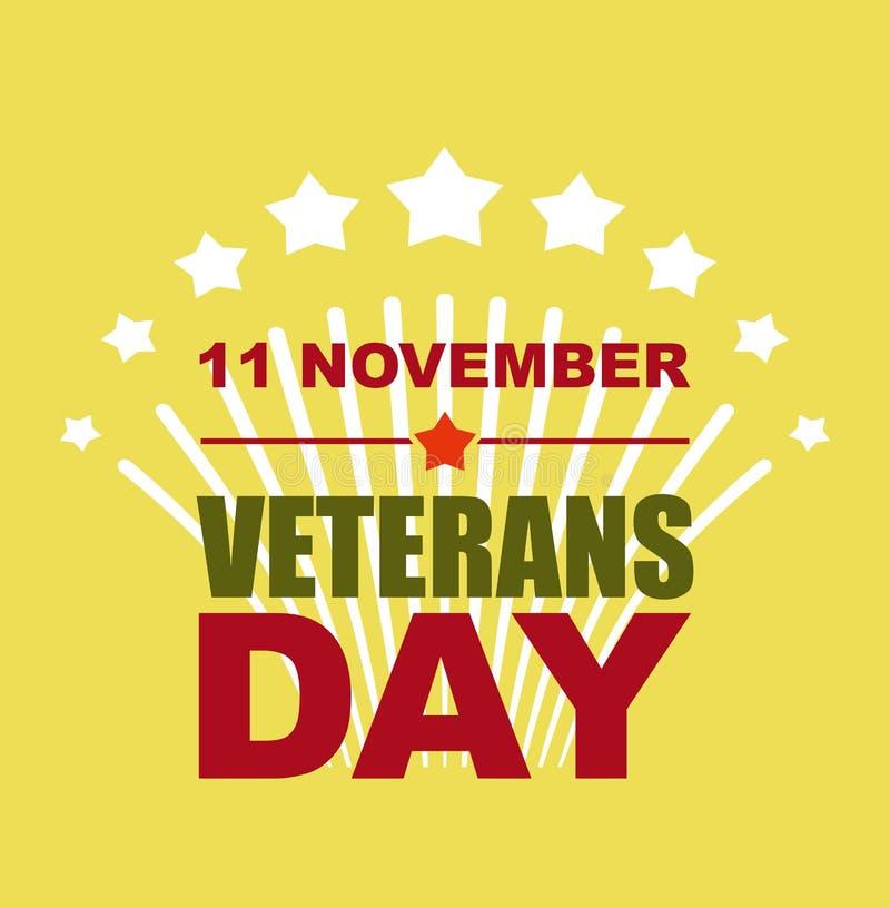 Veteranen Dag 11 November Begroeting aan Amerikaanse helden Vectorillu royalty-vrije illustratie