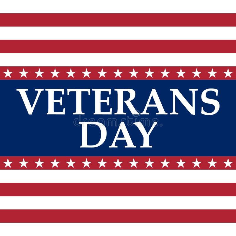 Veteranen-Tag in den Vereinigten Staaten von Amerika vektor abbildung